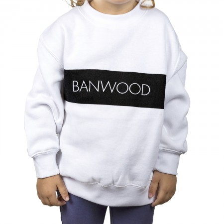 white sweatshirt for kids