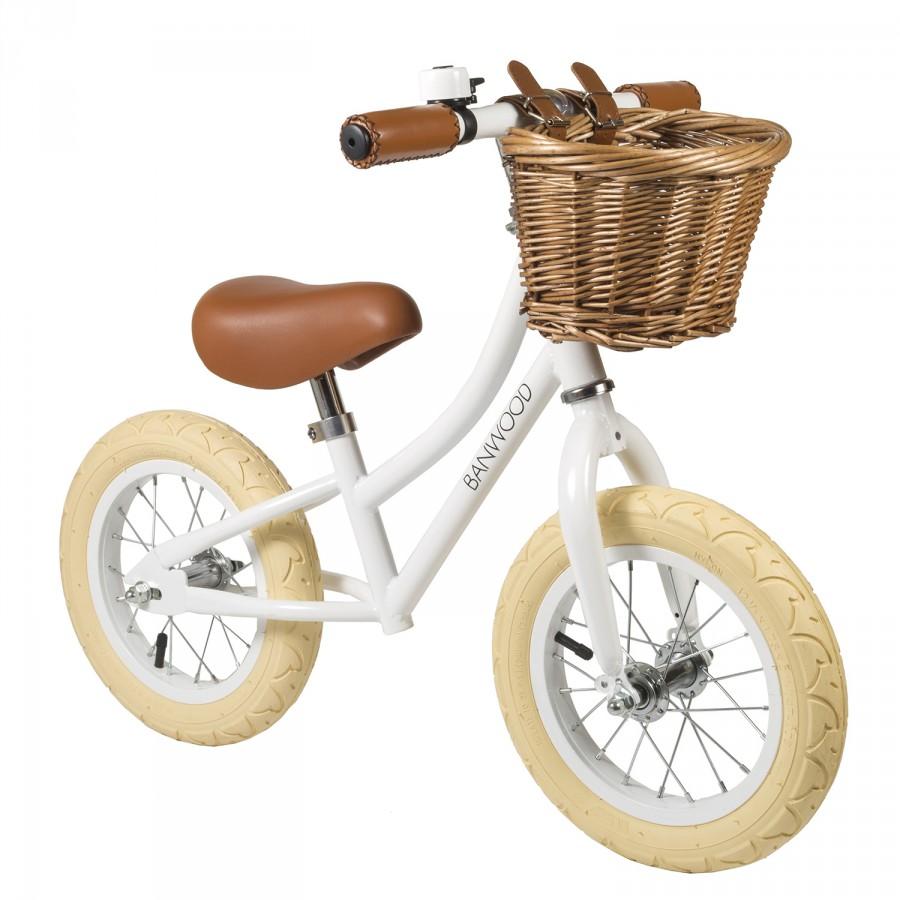 bicicleta blanca para niños
