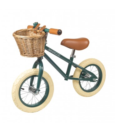 Green Balance Bike | Retro Kids Bike