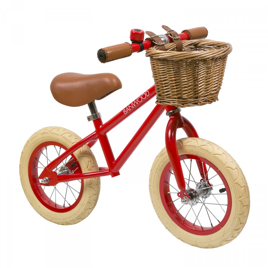 bicicleta roja para niños