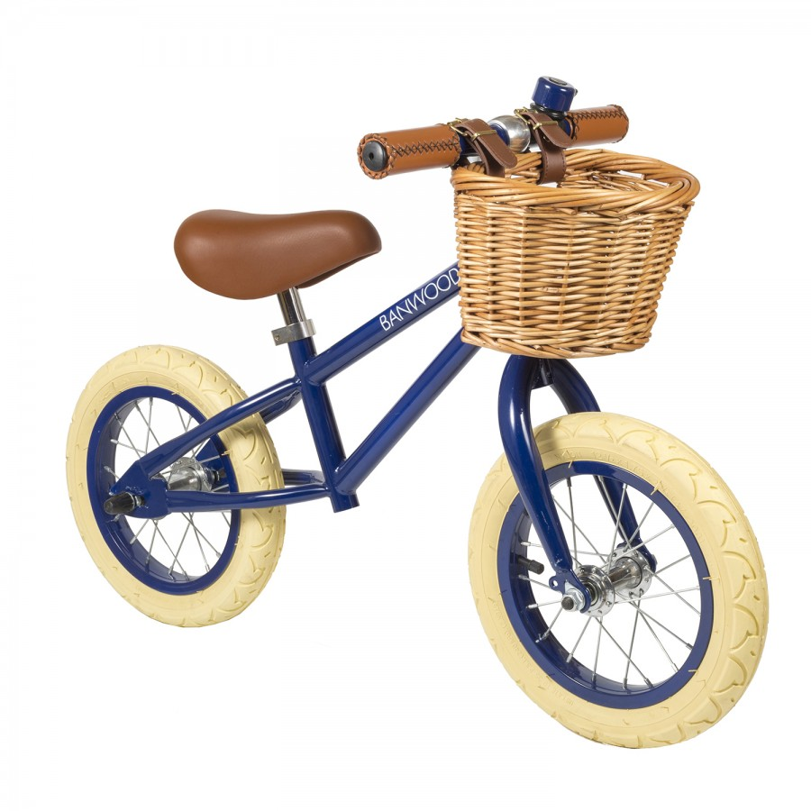 Kids Push Bike | Blue Balance Bike | Vintage Bicycles