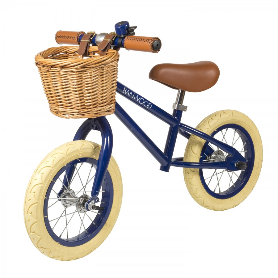 Kids Push Bike Blue Balance Bike Vintage Bicycles