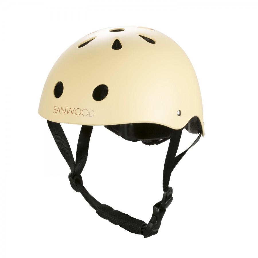 casco de bicicleta crema para niños