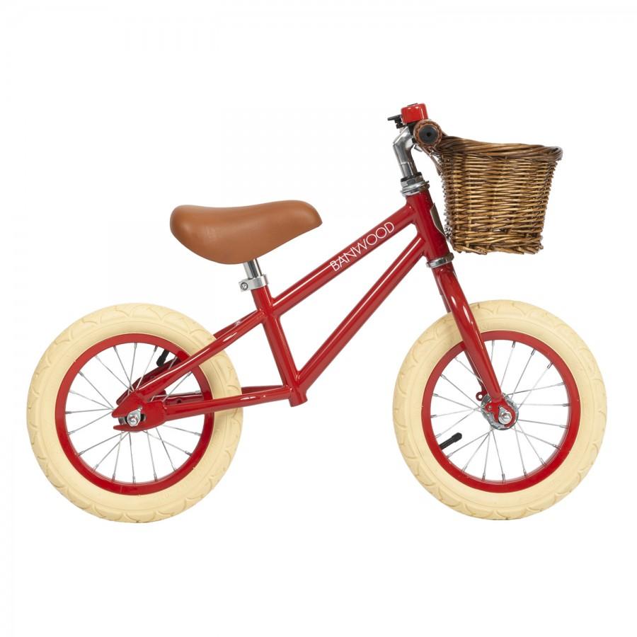 Red Balance Bike, Red Kids Bike, Retro Kids Bicycle